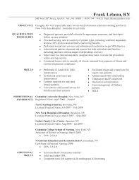 Resume Ideas Nursing Rn Resume Sample Example Of A Nursing Resume Sample Of