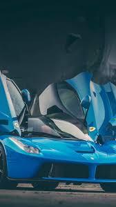 cars ferrari blue download wallpaper 1440x2560 ferrari laferrari blue doors qhd