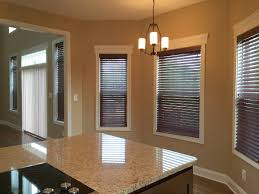 faux wood blinds look even better with bold colors
