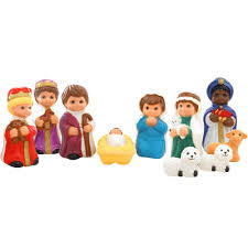 lighted plastic 10 pc childlike nativity set lighted plastic