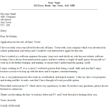 game tester cover letter example u2013 cover letters and cv examples