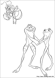 princess frog coloring picture