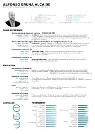 Sample Format Of A Resume by The Top Architecture Résumé Cv Designs Archdaily