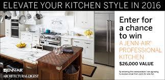 Kitchen Makeover Sweepstakes - win kitchen appliances on architectural digest jenn air kitchen