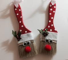 santa paint brush ornament 3d projects christmas pinterest