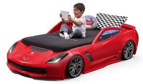 blue corvette bed corvette z06 toddler to bed with lights blue digger