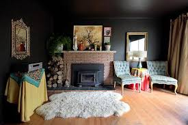 black and wood living room grey paint ideas for with black walls and wood