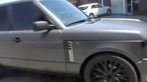 matte black range rover range rover hse wrapped in satin matte pearl grey by dbx youtube
