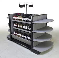 liquor store supplies double sided gondola shelves wood