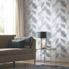 Arthouse Room Divider Arthouse Whisper Feather Wallpaper Black And White Http