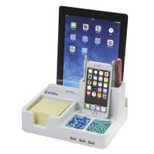 Electronic Desk Organizer All In One Desk Organizer And Station With 3 Usb Ports