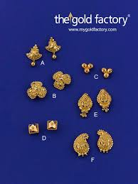 design of gold earrings ear tops 54 best beautiful gold earrings factory prices images on