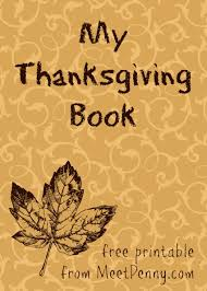 my thankgiving book printable meet