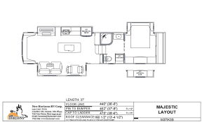 majestic floorplans u2013 new horizons rv