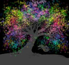 rainbow tree dreams after painting by nick gustafson