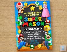 free printable super mario bros birthday party invitation party