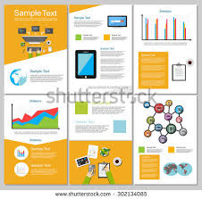 technical brochure template set flyer brochure design templates education stock vector