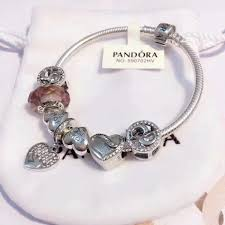 glass beads pandora bracelet images Pandora bracelet antique silver original women glass charm bangle jpg