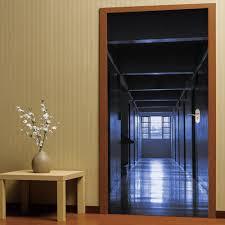 3d self adhesive silent corridor aisle door sticker home decal 3d self adhesive silent corridor aisle door sticker home decal colormix