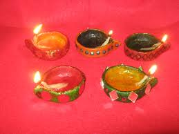 diwali diyas made of wheat flour saumya u0027s cards and crafts