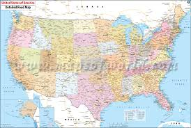 detailed map of usa and canada large detailed political and road map of the usa stuning printed