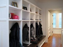 mudroom lockers entry transitional with bench bench seat bin pulls