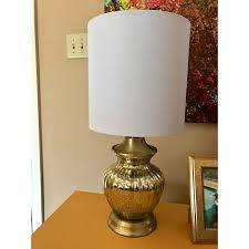 Mercury Glass Table Lamp Decor Therapy Gold Tone Antique Brass Mercury Glass Table Lamp