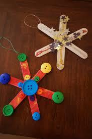 popsicle snowflake ornaments kid friendly