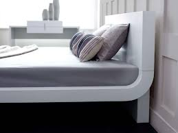 Modern Beds Roma White Modern Bed Platform Bed Contemporary Bed Living It Up