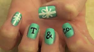 tiffany u0026 co inspired nail tutorial youtube