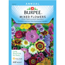 burpee mixed flowers old fashioned garden seed packet walmart com