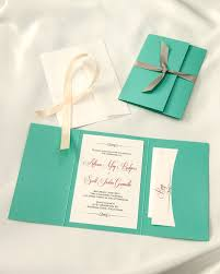 wedding invitation kits lagoon blue pocket folder wedding invitations