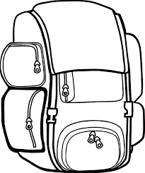 backpack free images camp camping coloring wecoloringpage