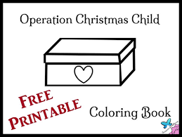 operation christmas child coloring learntoride