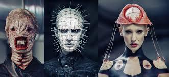 prosthetic halloween mask the hellraiser halloween makeup series