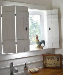 Shabby Chic Shutters by 3 Kitchen Window Treatment Types And 23 Ideas Shelterness