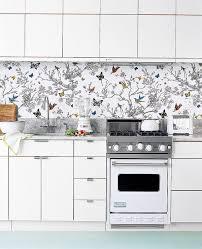 kitchen backsplash wallpaper nature wallpaper kitchen backsplash with butterflies and birds