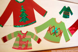 family ever after ugly sweater party ideas sweater wood blocks