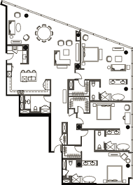 Penthouse Floor Plans Penthouse 3 Bedroom Floor Plan 4 Veer Towers Citycenter