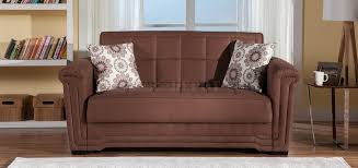Loveseat Convertible Bed Truffle Microfiber Modern Convertible Loveseat Bed W Pillows