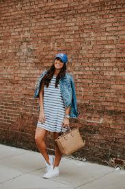 stripe swing dress a southern drawl