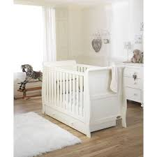 Sleigh Cot Bed White Mee Go Sleep Sleigh Cotbed Ivory Free Underbed Drawer U0026 Mattress