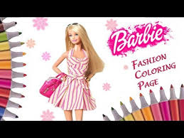 coloring barbie dress up polka dot dress sandals u0026 bag coloring