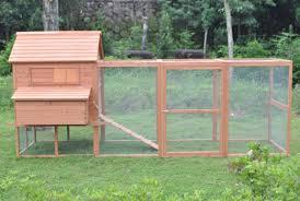 Backyard Chicken Run by Deluxe 12 U0027 Wood Chicken Coop Backyard Hen House 6 Nesting Box
