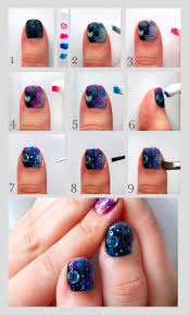 pretty squared galaxy nails nail art tutorial prettysquared