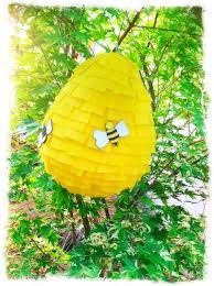 bumble bee pinata baby bees house beehive pinata party
