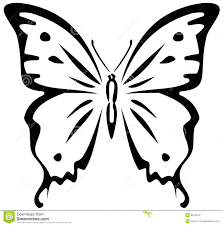 butterfly stencil stock photography image 9679472