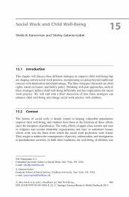 Social Service Worker Resume Sample by Social Work And Child Well Being Springer