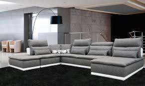 canapé contemporain design tissu canape cuir et tissus design idées de décoration intérieure