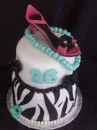 cakes or something like that zebra and high heel birthday cake